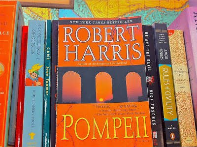 This is the cover of the book Pompeii.