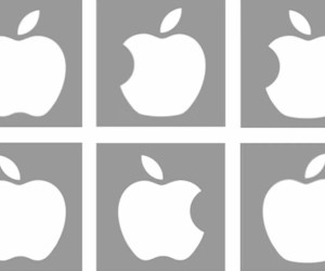 This shows the incorrect Apple logos used in the study.