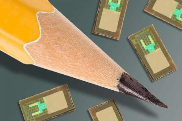 Image shows a pencil tip and the sensors.