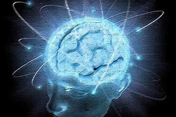 Image shows a head with a blue brain exposed.