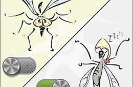 Image shows a cartoon of fruit flies.