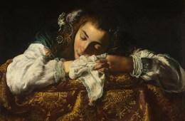 """""""Sleeping Girl"""" by Domenico Fetti."""