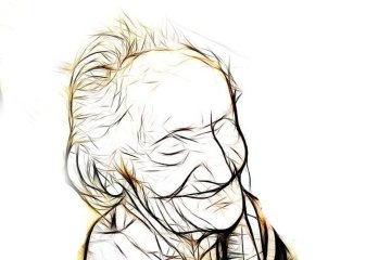 Image shows an old lady.