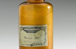 Image shows an old medicine bottle