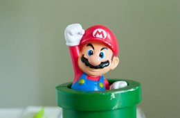 Image shows a super mario toy.