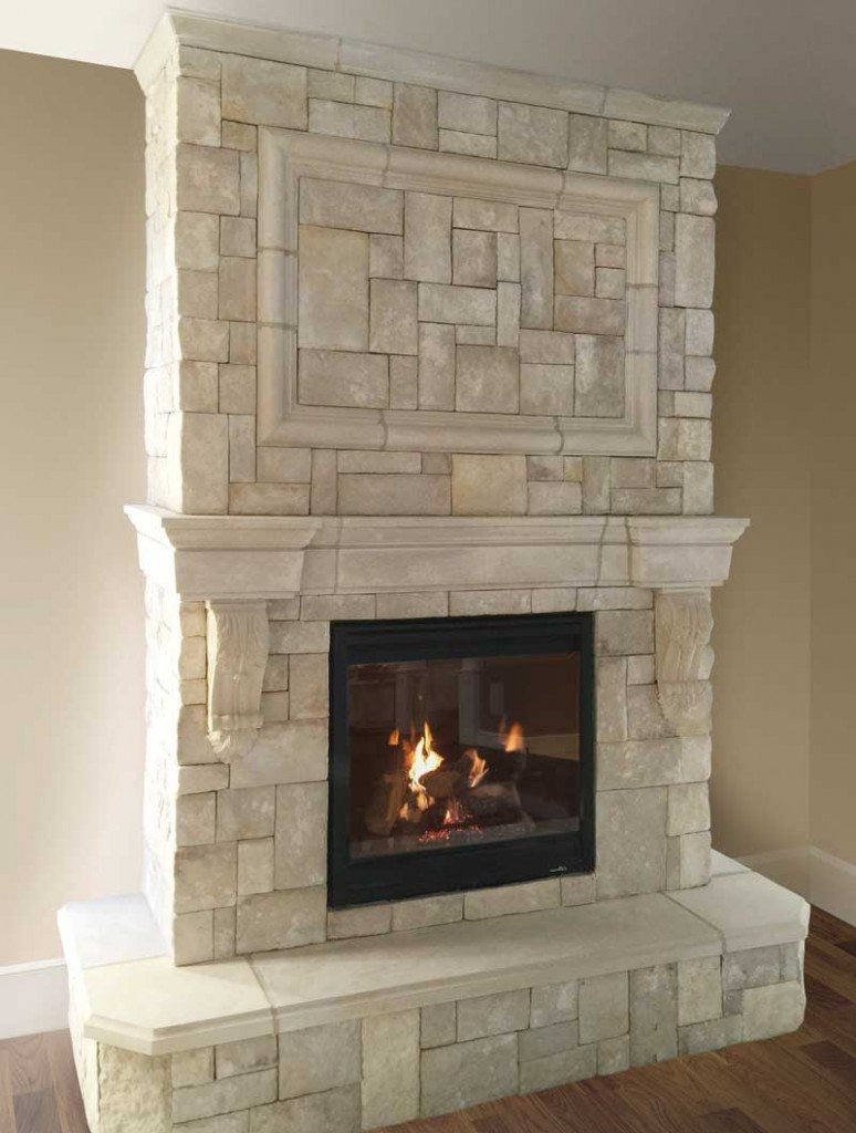 Fireplace Stone Cast Fireplace Mantels Integrate With Veneer Stone New England