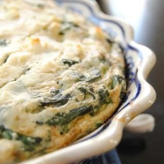Spinach Feta Quiche | neveranythyme.com