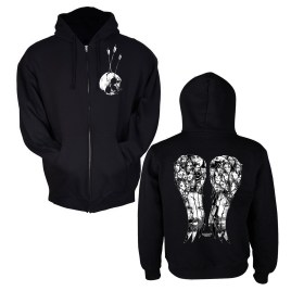 Daryl Wings Zip-up Hooded Sweatshirt