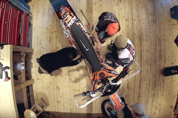 Assembling a Snow Bike   Never Stop Riding   YouTube