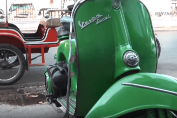 Cambodia   Green Vespa Coffee Shop   Never Stop Riding   YouTube