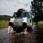 Le van n'aime pas l'eau autant qu'eux visiblement