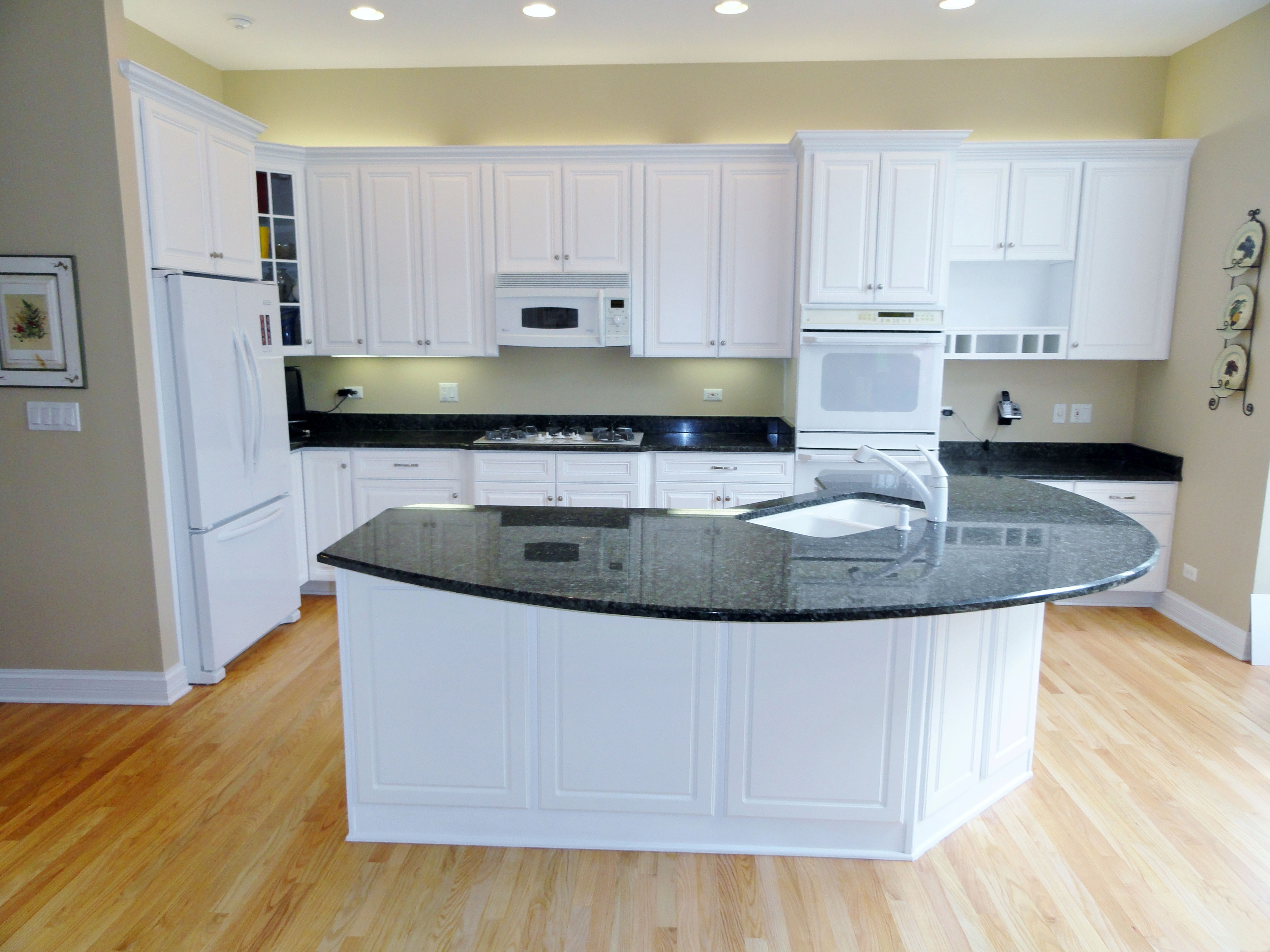 photos resurfacing kitchen cabinets 30 Cabinet refacing with white painted maple triple upgrade design