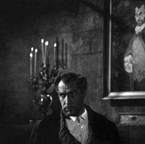 Vincent Price in THE HAUNTED PALACE