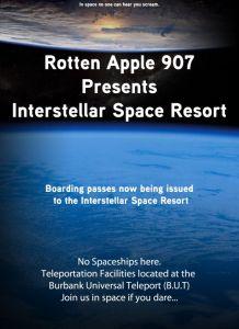 Rotten Apple Space Resort Flyer