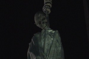 Heritage Haunt 2012 hanged skeleton
