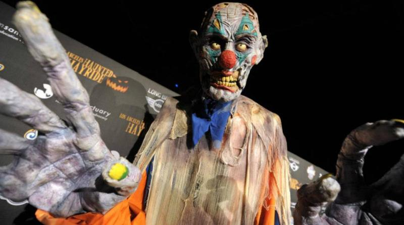 An over-sized monster is ready for his close-up at the L.A. Haunted Hayride. Photo by John Shearer/Invision for LAHH/AP Images