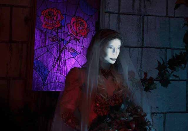 Mourning Rose Manor Bride with Black Roses