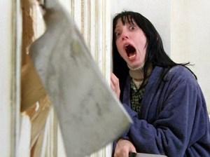 The Shining Shelly Duval screams at ax