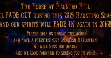 House at Haunted Hill closed 2015