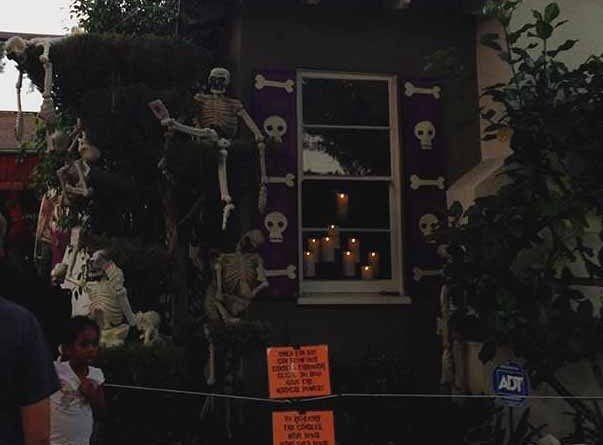 Boney Island 2015 window with candles