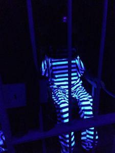Hooded prisoner awaits execution