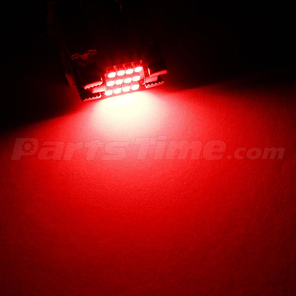 Red Light Reading Lamp 2x Red 12 Smd Interior Dome Lights Map Reading Bulbs 31mm