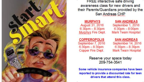 Safe Driving Classes Start Tomorrow!! Then September 1, 7 & 14