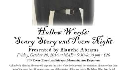 Hallow Words: Scary Story & Poem Night October 28th