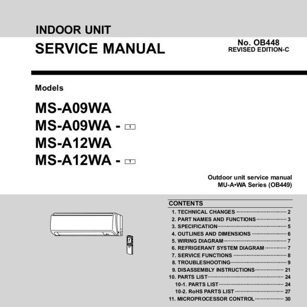 Mitsubishi Inverter Air Conditioner Service Manual - Best Mitsubishi