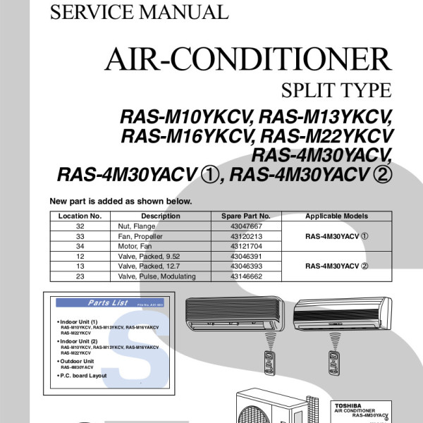 Toshiba Air Conditioning Installation Manual - Wiring Diagram And