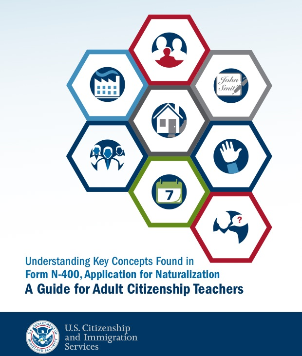 New Americans Campaign Teaching Concepts on the Naturalization - citizenship application form