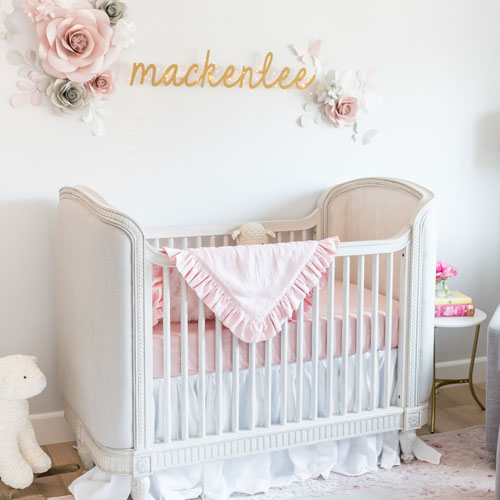 Baby Bettwäsche Mädchen Baby Girl Crib Bedding | Pink Baby Girl Bedding | Pink