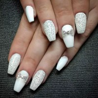 25 Fancy White Coffin Nails - Bright and Fasionable Designs