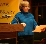 Anita Harris speaking at the Lincoln, MA Library