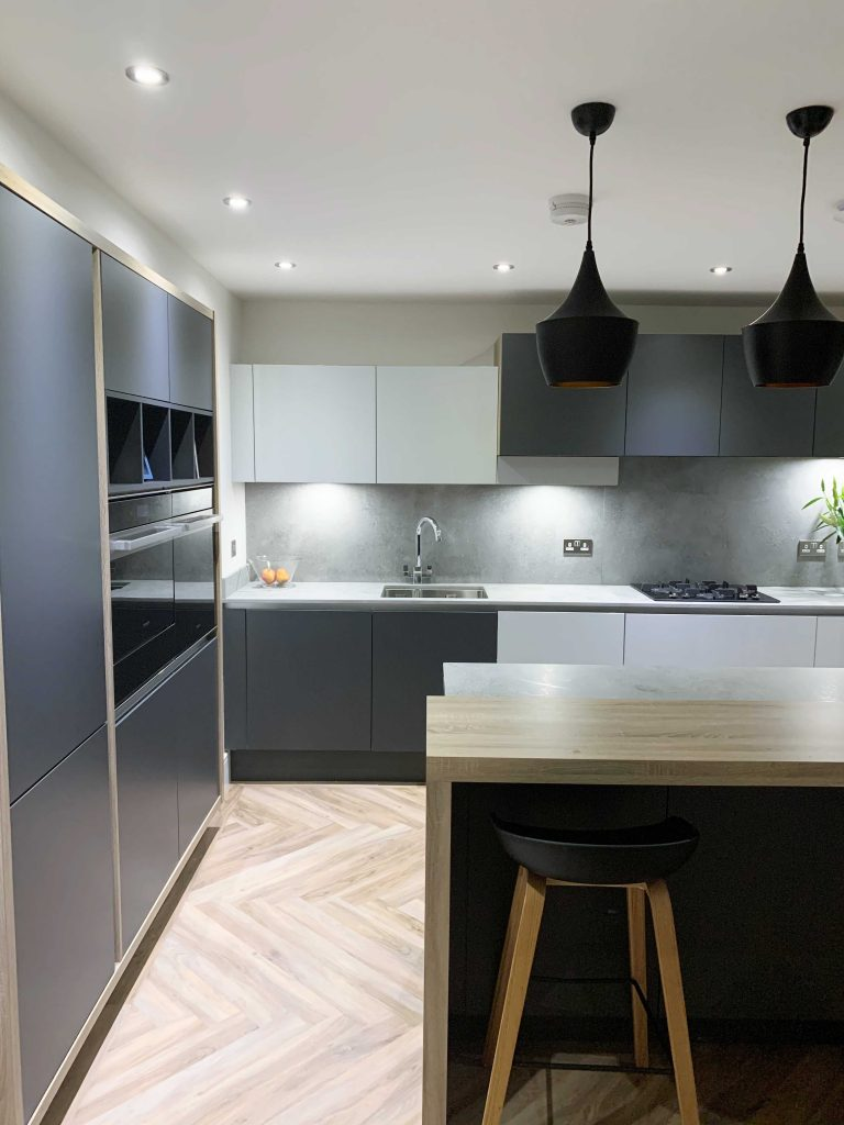 Kitchen Company Contemporary Handless Kitchen With Island – Newcastle ...