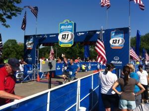13.1 Marathon finish line