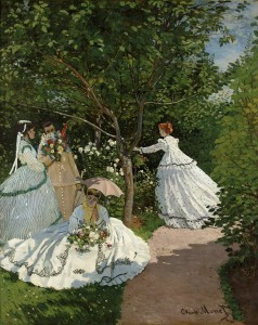 "Claude Monet. ""Women in the Garden,"" 1866. Musée d'Orsay, Paris, RF 2773."