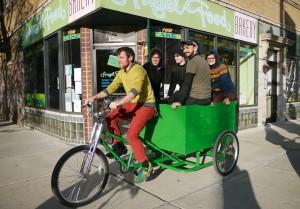 Hozinsky hauls passengers during PumpKarve-Go. Photo: Steven Vance