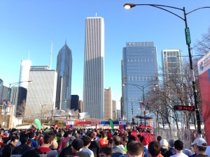 Shamrock Shuffle starting line/Photo: Zach Freeman