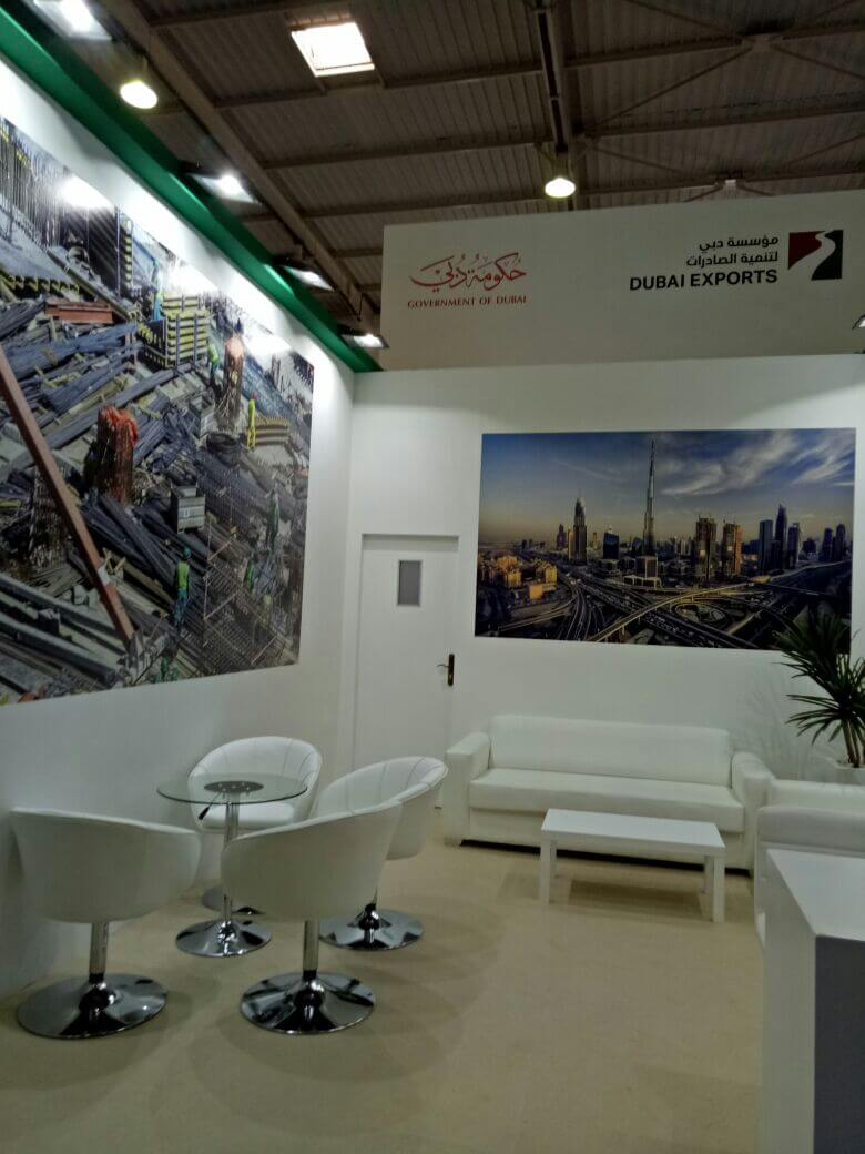 Led Superficie Newcom Maroc → Stand Dubai Export Au Salon Big 5