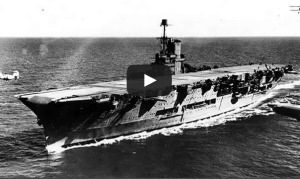 大連艦隊奏樂出航。 圖片來源:YouTube截圖