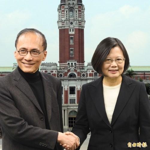 蔡政府的林全內閣,有許多「老藍男」。 圖片來源:自由時報
