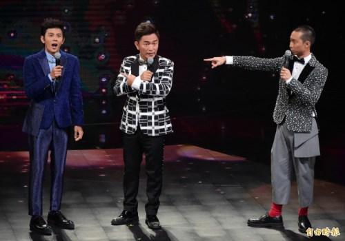 吳宗憲在金鐘獎頒獎典禮的表演,被網友酸為「中國憲」。 圖片來源:自由時報