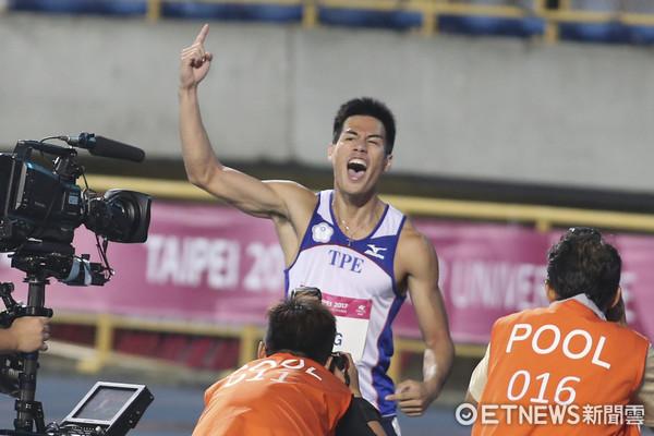 世大運男子100公尺金牌楊俊瀚是阿美族人。 圖片來源:東森新聞