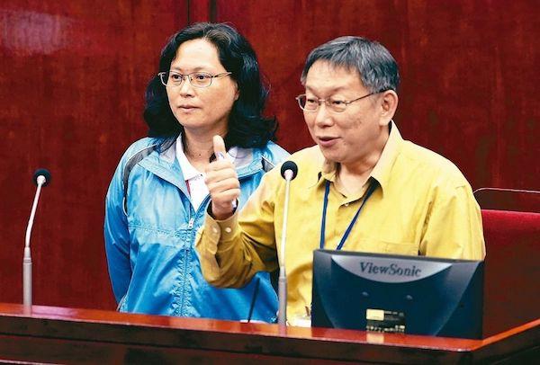 北市勞動局長賴香伶參加勞團抗議勞基法修正。 圖片來源:聯合新聞網
