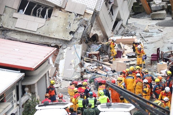 花蓮大地震造成傷亡。 圖片來源:聯合新聞網
