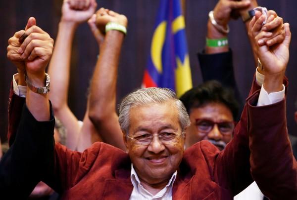 馬來西亞六十年來首次政黨輪替。 圖片來源:自由時報