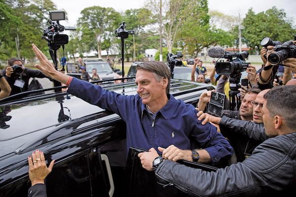 現年63歲的波索納洛被稱為「巴西版特朗普」。 圖片來源:大紀元