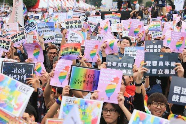 台獨、反核運動中也有許多同志參與其中。 圖片來源:聯合新聞網