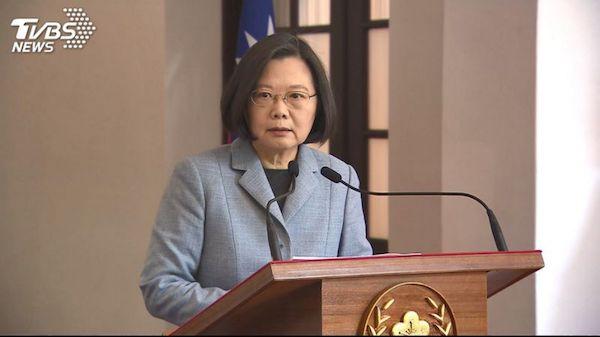 海外獨派青年發聲明支持蔡英文連任。 圖片來源:TVBS